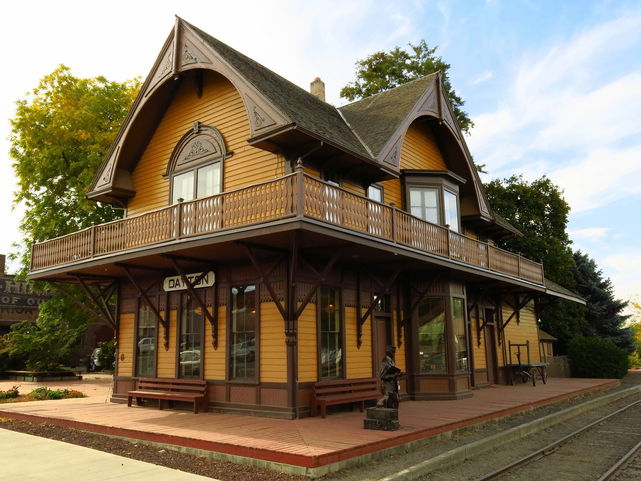 The Historic Dayton Depot is one of the highlights of the volkswalk.