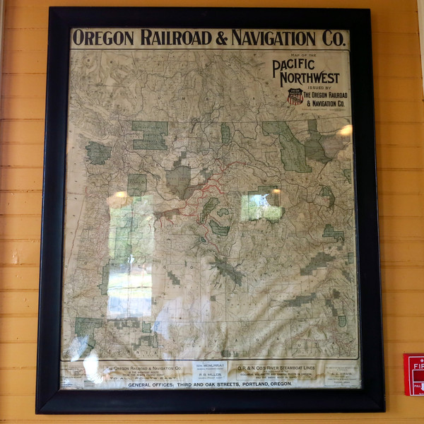 A map of the Oregon Ralroad & Navigation Company.