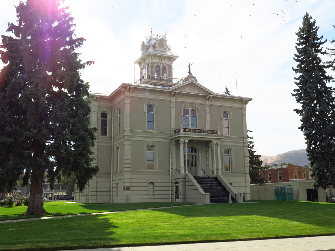 The north side of the Columbia County Courthouse, which dates from 1887,