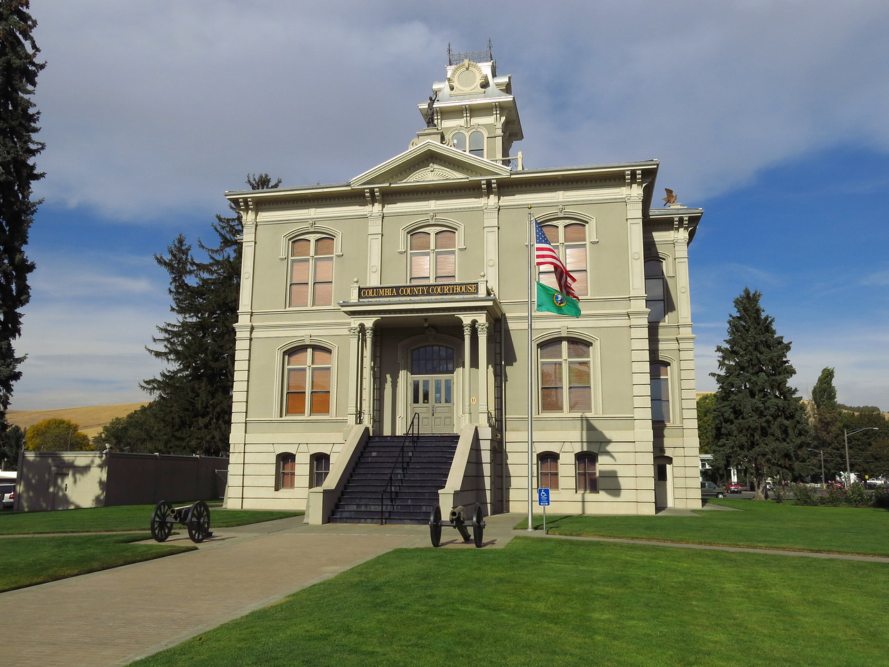 The south side of the Columbia County Courthouse faces Main Street.