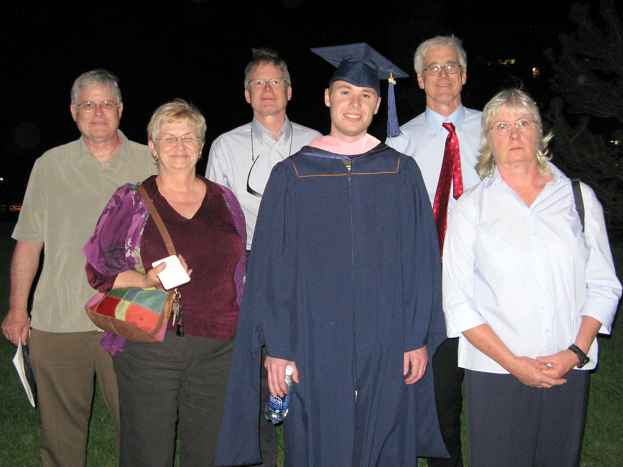 Kevin and his aunts and uncles ...  Wendell, Kathi, Richard, Kevin, Glenn and Connie.
