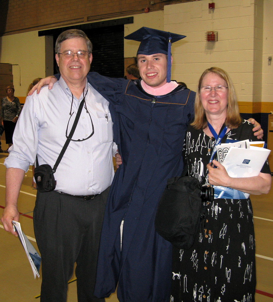 Kevin and his parents, Martin and Mary.