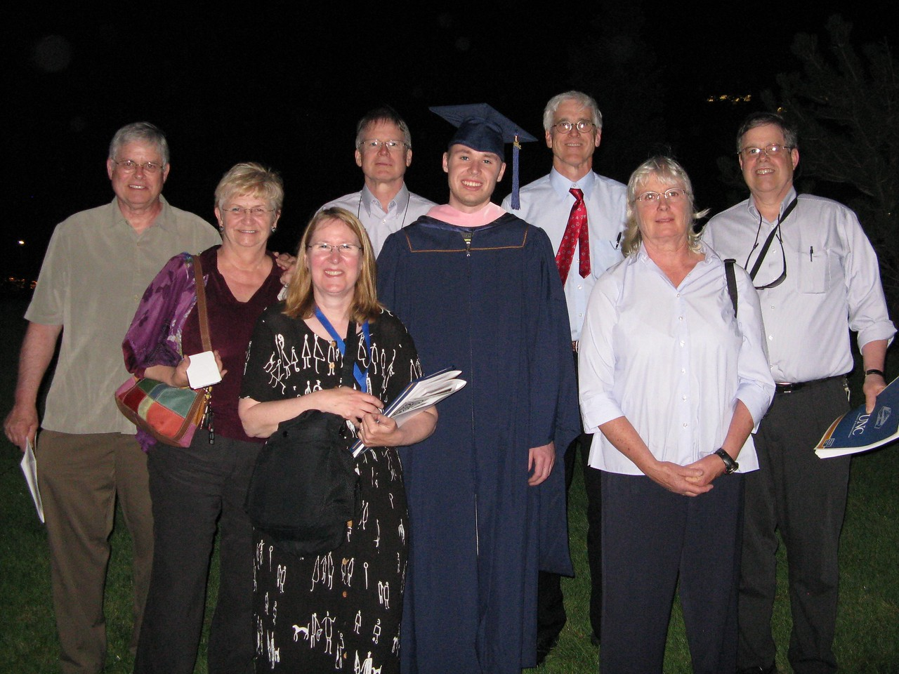 All of us who attended his graduation. Wendell, Kathi, Mary, Richard, Kevin, Glenn, Connie and Martin.