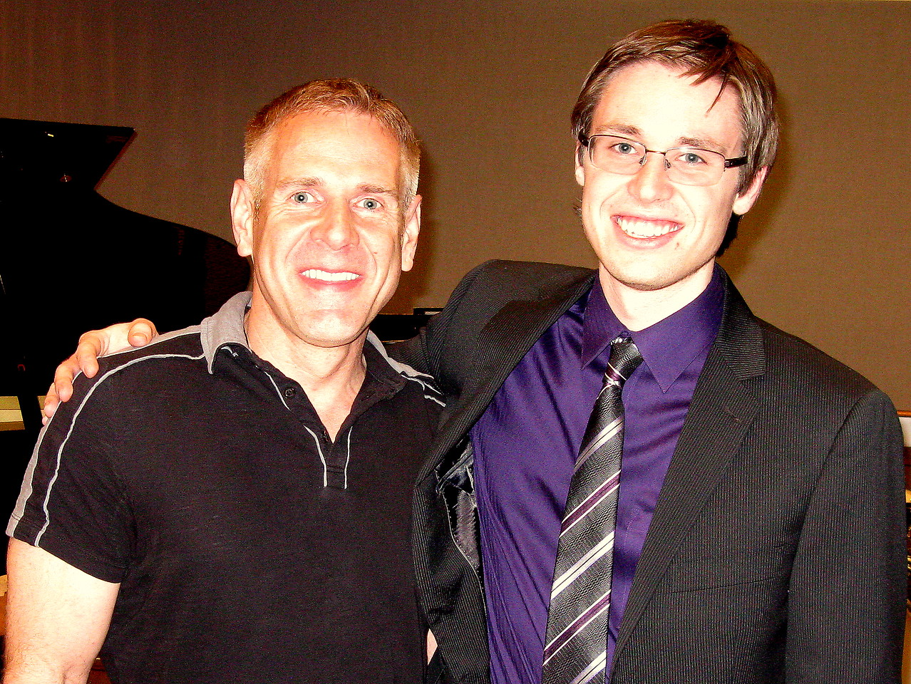 Dana Landry, an Emmy-nominated jazz pianist who is Kevin's piano teacher at the University of Northern Colorado, and Kevin.