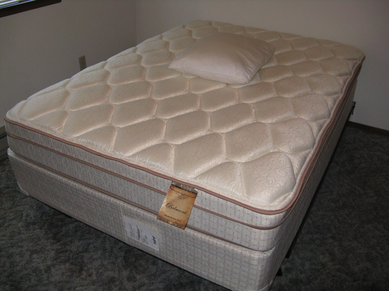 Kevin bought a new bed.