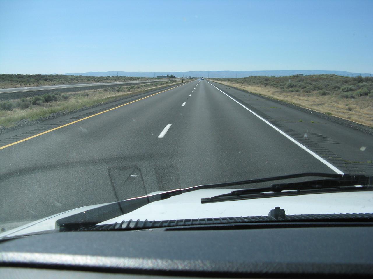 I-90 in Eastern Washington is flat.