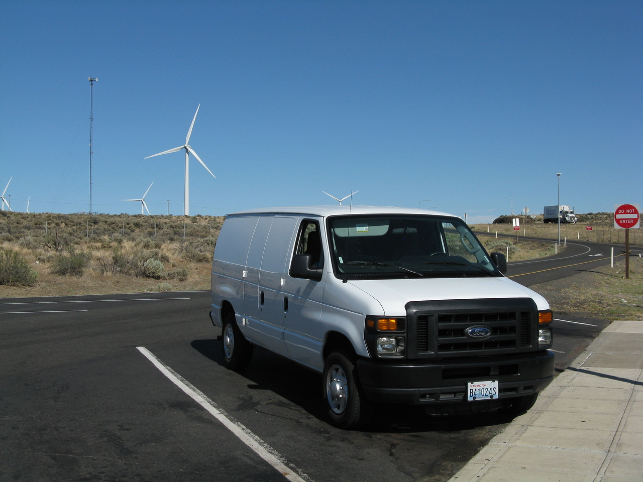 The cargo van drove well, but it  was a gas hog.  It got about 14 miles per gallon.  For the 450 miles or so that we drove it, it used about 32 gallons of gas, which cost $120 at $3.72 per gallon.  We got home to Edmonds, unloaded the van for the last time, and we returned it to Enterprise car rental.  Overall, we had a very successful trip.