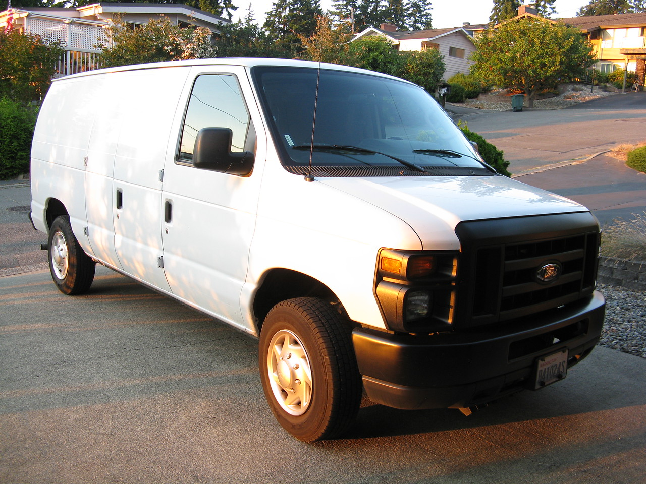 We rented this full-size cargo van for the haul to Moses Lake.