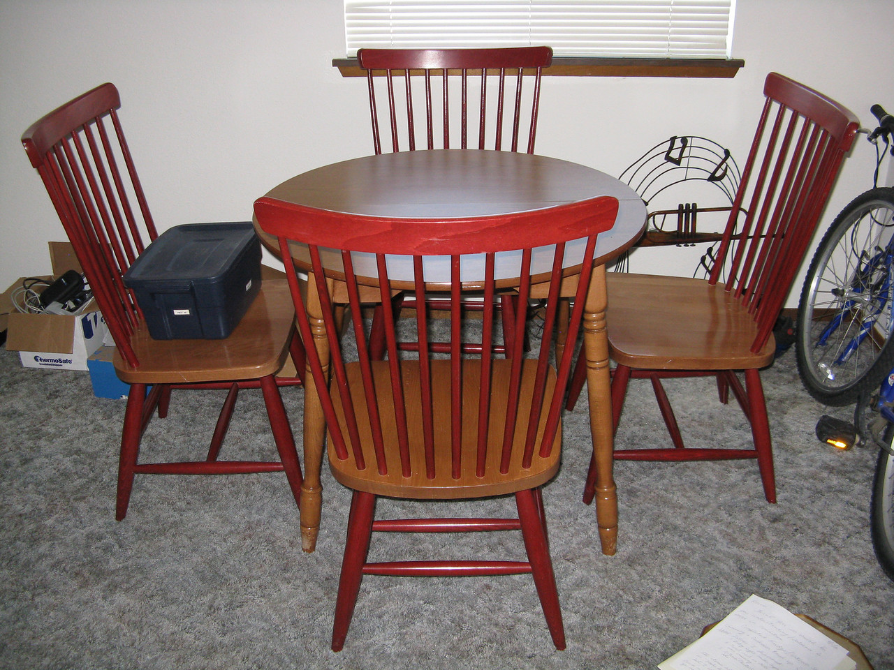 This small dinette set was another find on Craig's list.  It is perfect for Kevin's dining room.