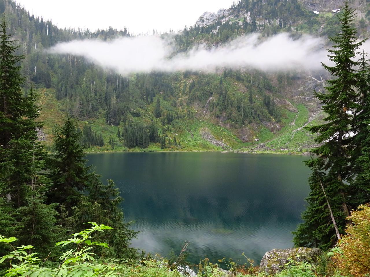 Lake and low lying cloud.