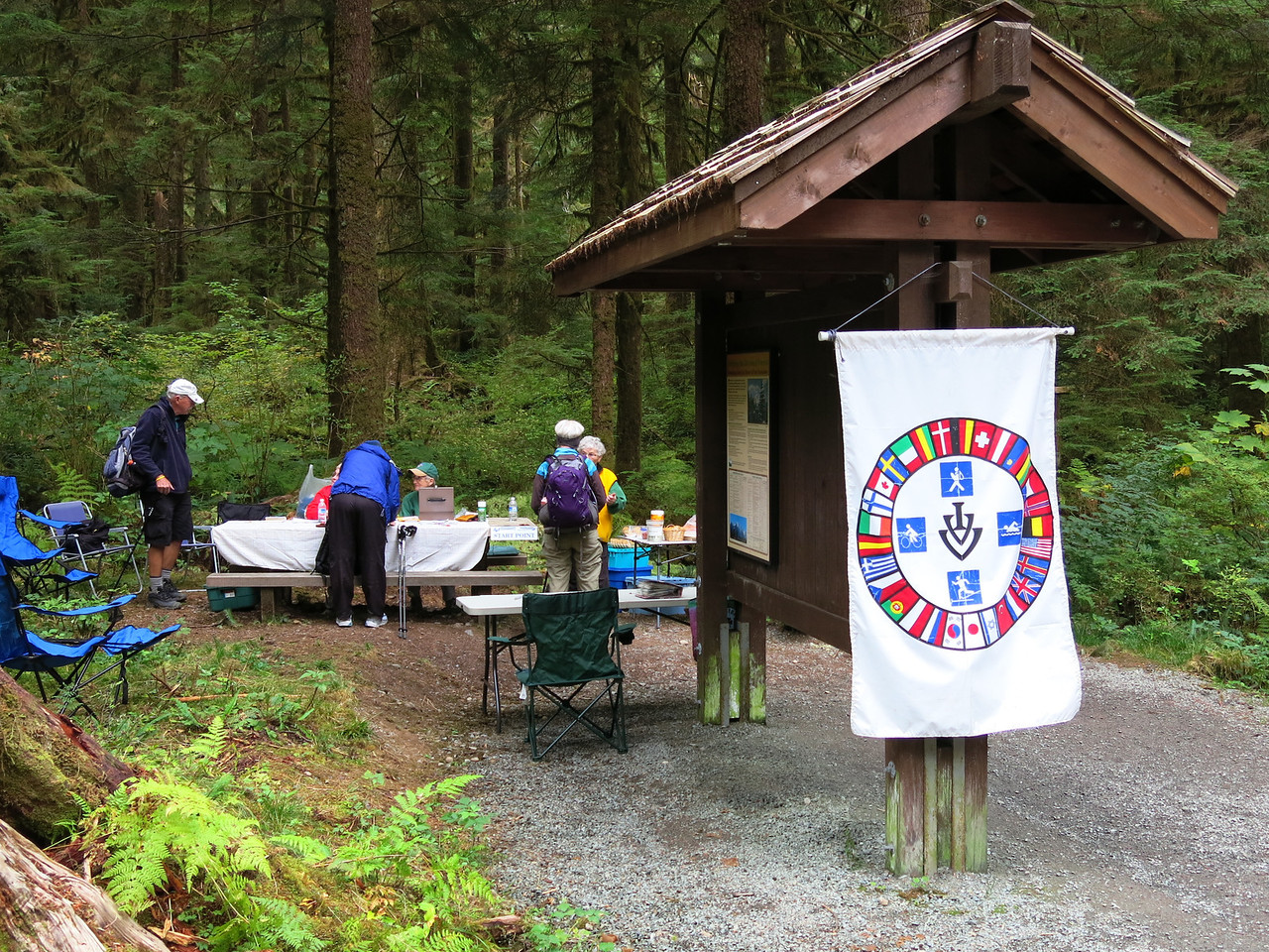 This hike to Lake Twenty-two was a one day walking event sponsored by the Four Plus Foolhardy Folks Volkssport Club of Washington state.