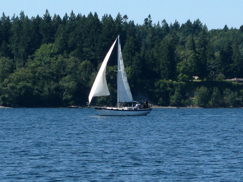 Another sailboat, this one is obviously under sail.