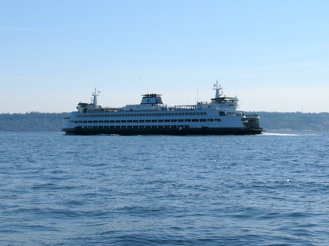 The Edmonds-Kingston ferry, which is a very common sight.