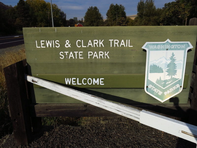 Earlier in the morning and before arriving in Dayton and before arriving at Palouse Falls, we stopped briefly at Lewis and Clark Trail State Park about 6 miles west of Dayton on US 12.  On the way back from the Pacific Coast in 1806, Lewis and Clark camped some place near this state park.