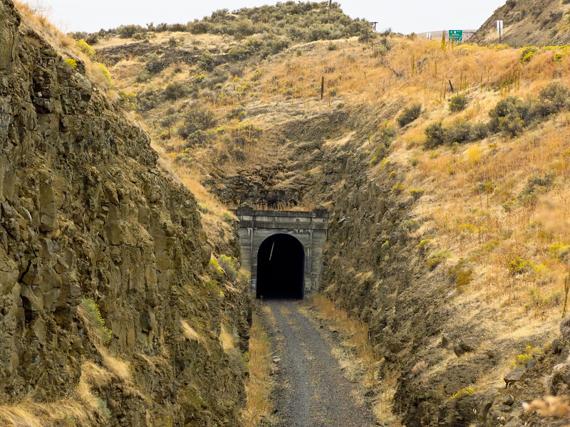 This is the tunnel on the old SP&S line, now Columbia Plateau Trail, near Kahlotus.