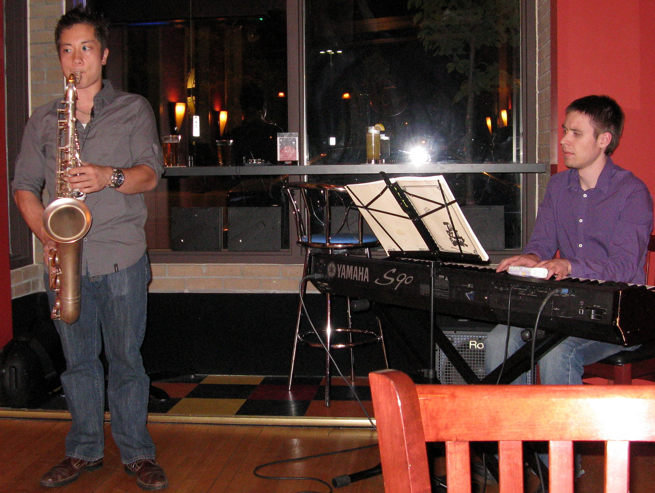 Kevin played the lounge gig with Eric Jordan, tenor sax.