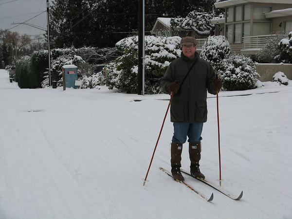 Snowy Day in Edmonds, Jan 19, 2012