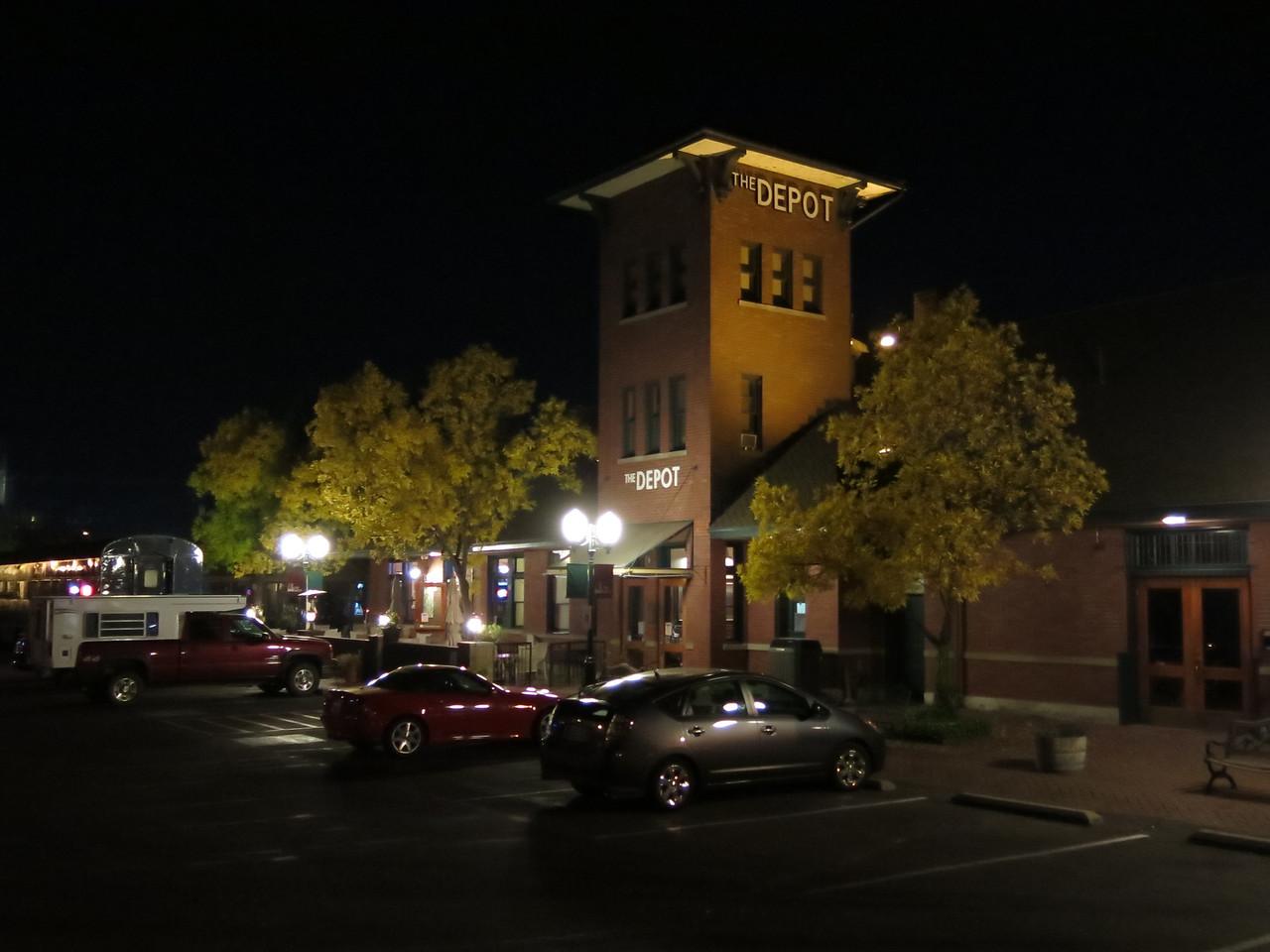 The Depot restaurant, where we had dinner.