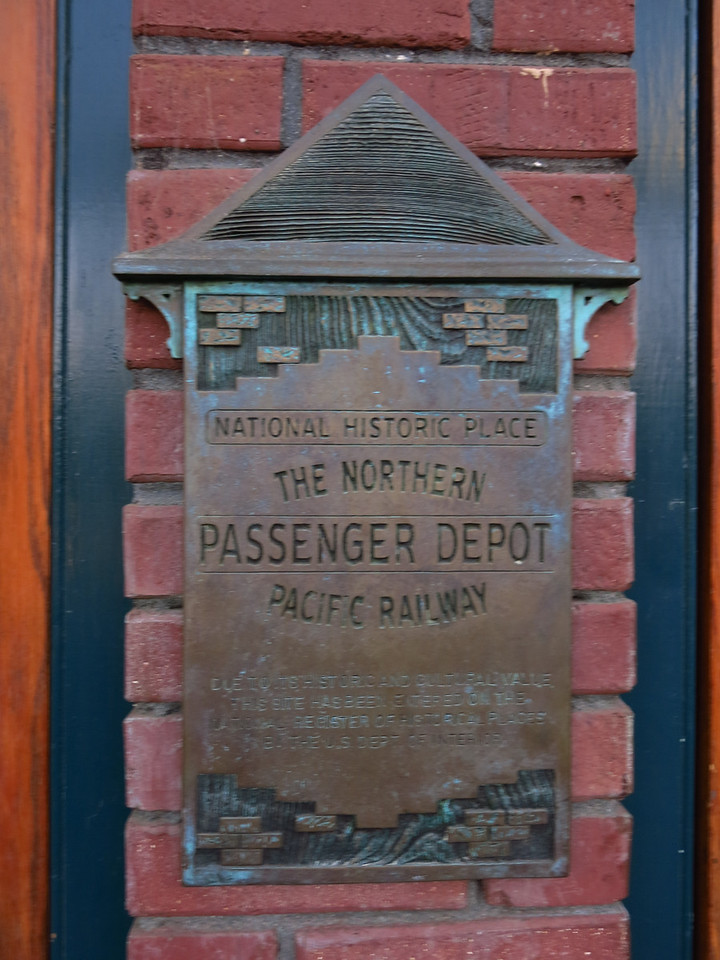 The Northern Pacific Railway passenger depot is now the restaurant.