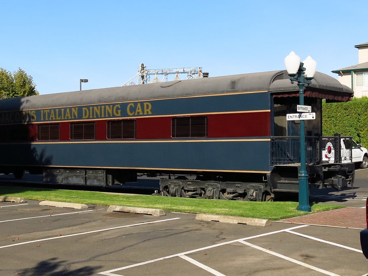 When we came back to dinner, we ate in this dining car.