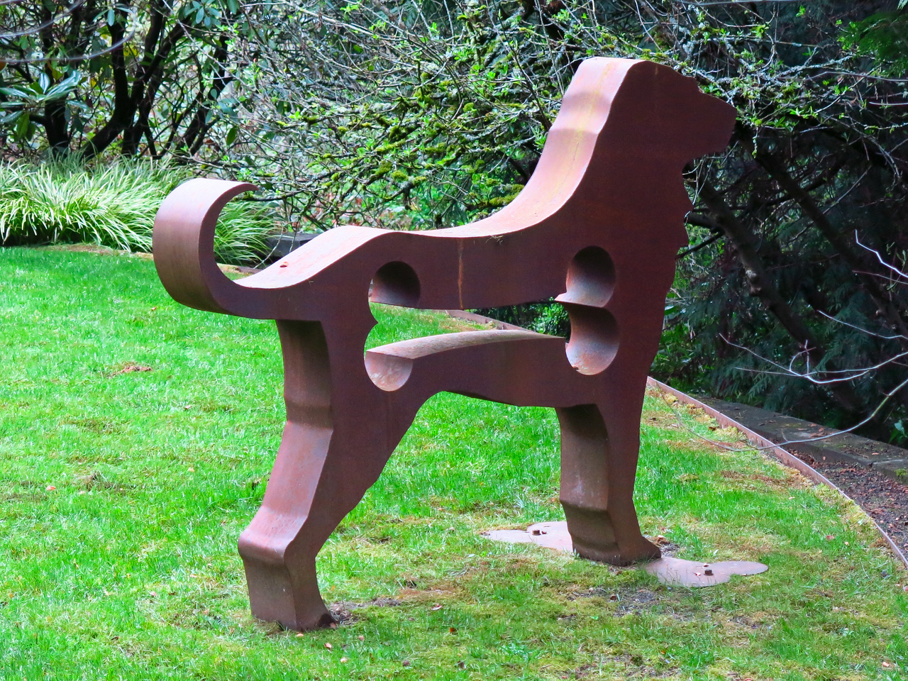 We enjoyed this clever sculpture on the lawn of a family home.