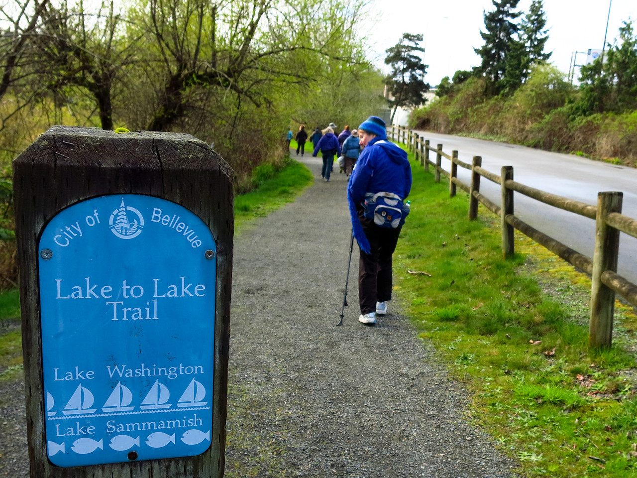 This is the beginning of the route, just south of the start at the South Bellevue Park and Ride.  The Park and Ride is east of Bellevue Way only a short distance north from the I-90 exit just east of the Mercer Island bridge.