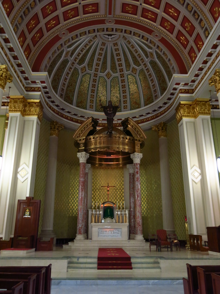 Close-up of altar in the Cathedral