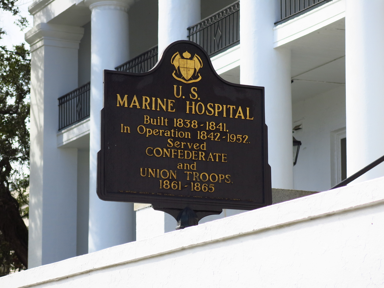 Sign in front of the U.S. Marine Hospital