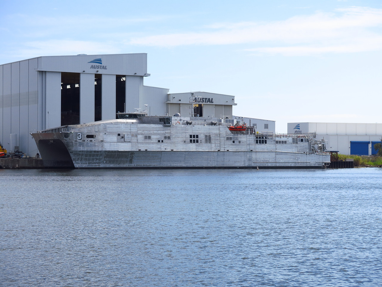Catamaran stealth ship