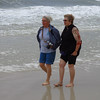 Connie and Kathi in the surf