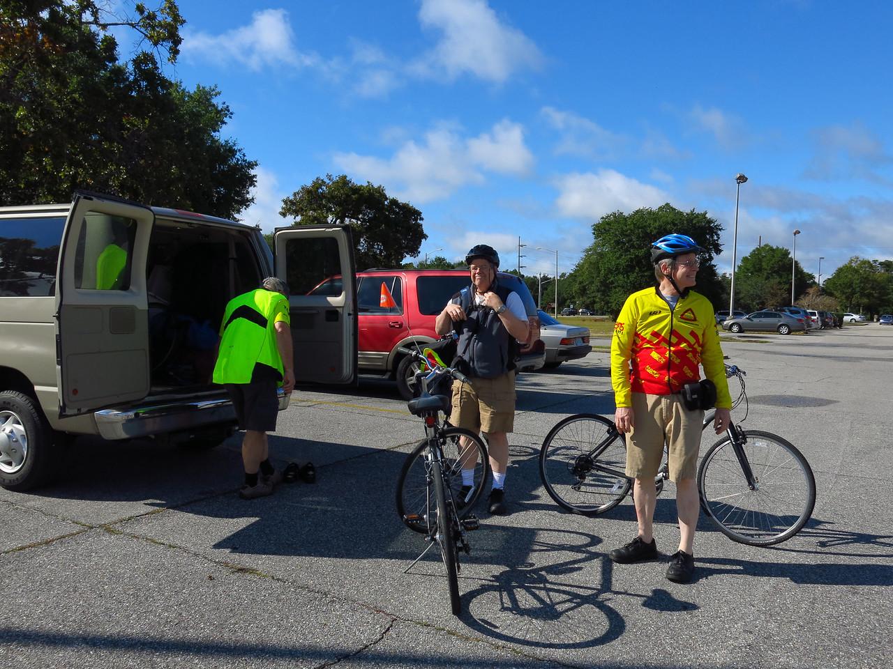 Bike ride to Fort Morgan on Thursday morning, November 7, 2013