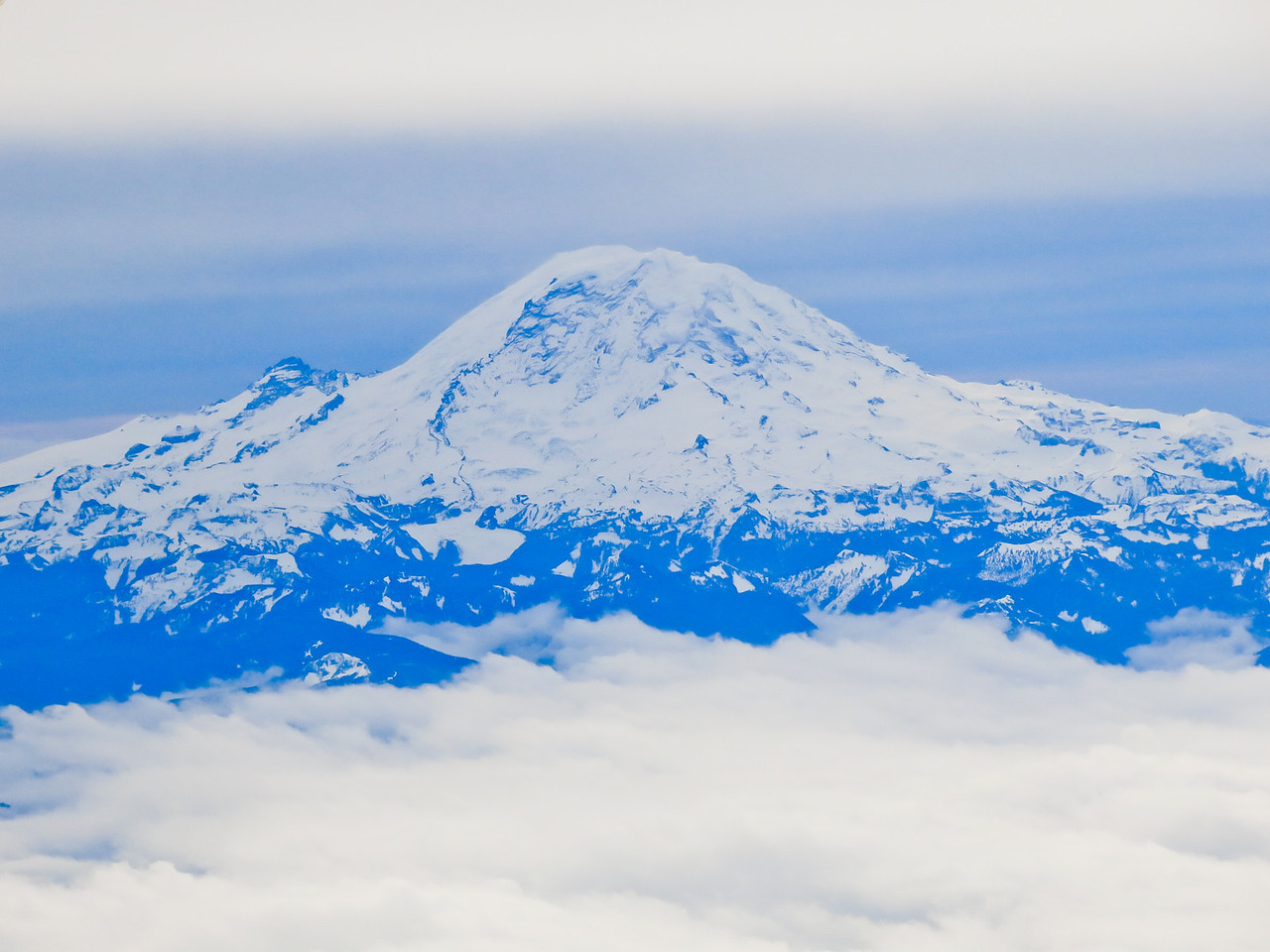 Although overcast in Seattle, it was bright and sunny at Paradise on the south flank of Mount Rainier.