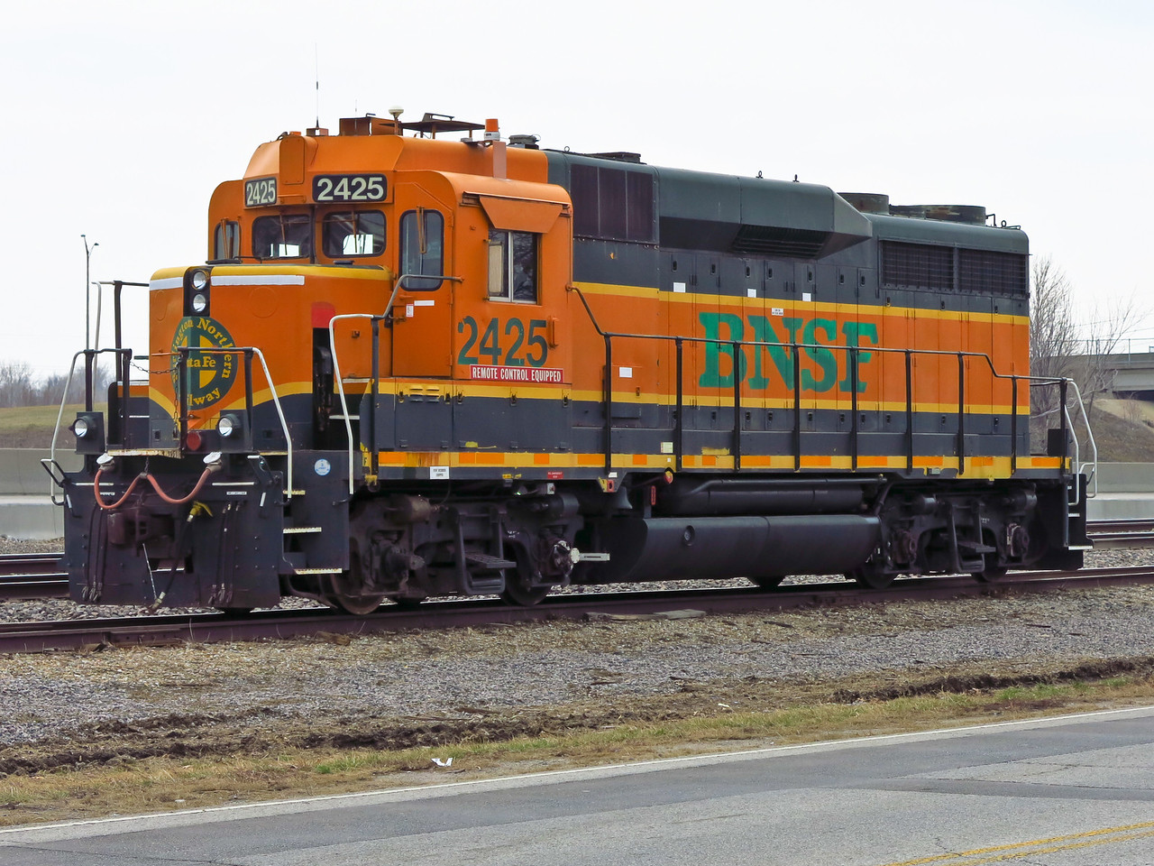 Nathan's practical education is likely to include working with this GP-30 locomotive located near a small yard in neighboring Lenexa, Kansas.