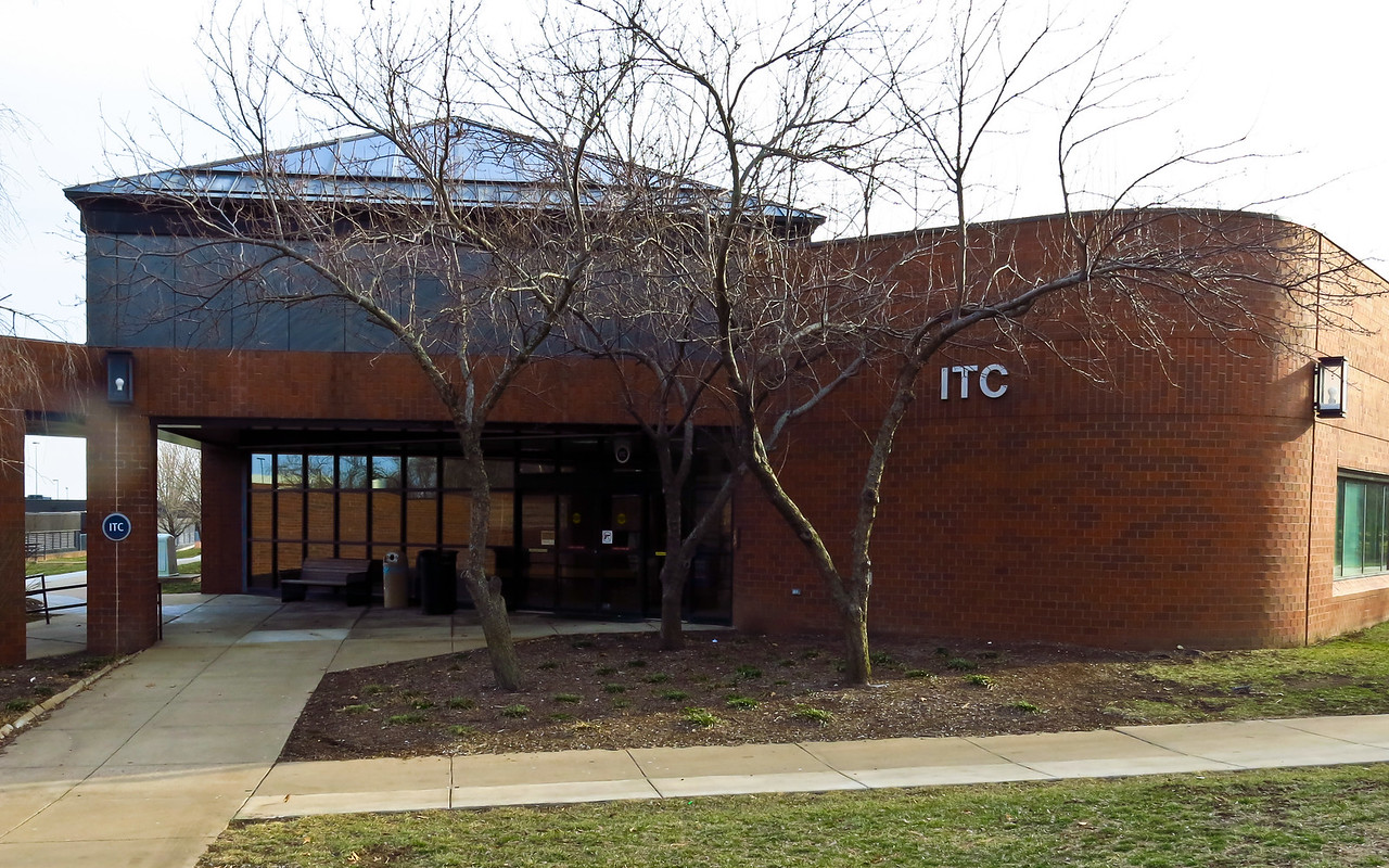 This building on the JCCC campus is where Nathan's classes take place.