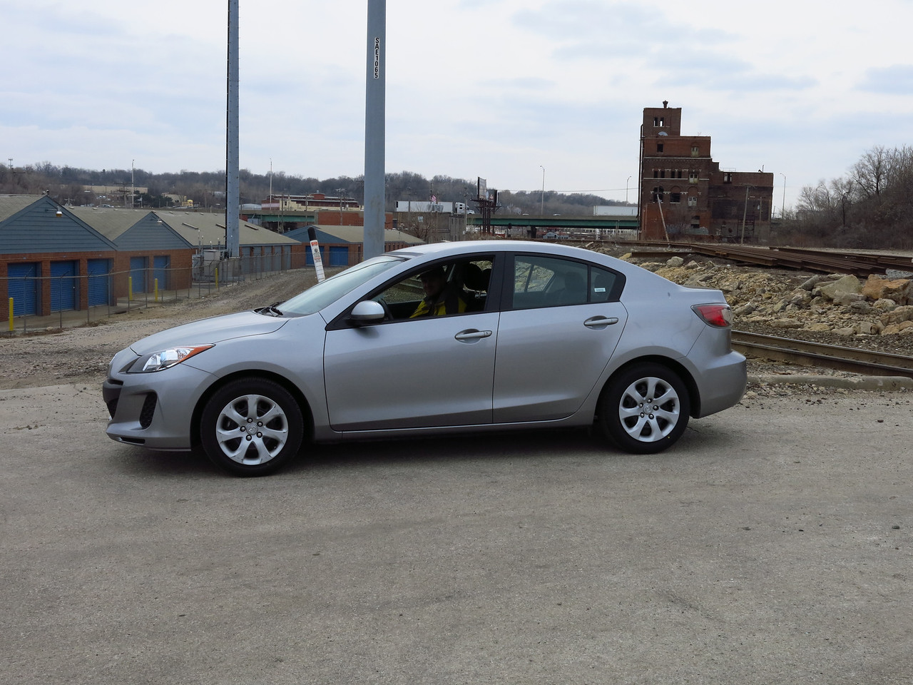 We took a little tour of Kansas City on Saturday, March 16, 2013.  This is our rental car and Nathan is in the front passenger seat.