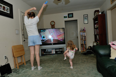 Playing our Dance Party 3 with Lisa