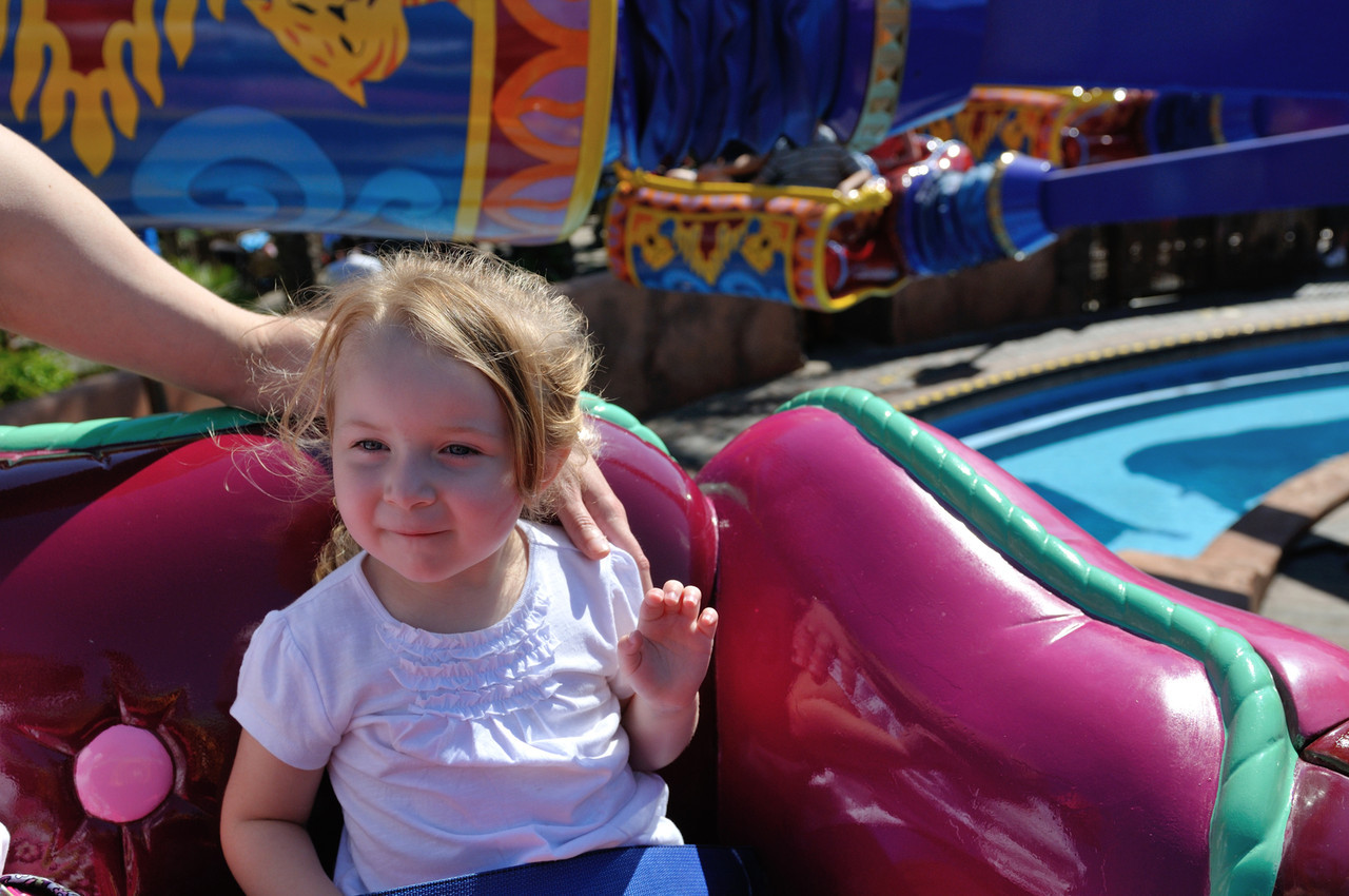Riding Aladin's Magic Carpets for the first time