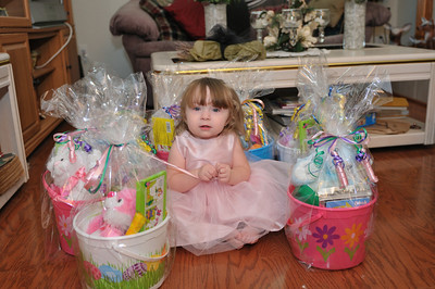 Brooklyn and Easter baskets
