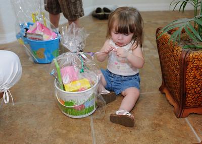 Brooklyn opening her Easter basket