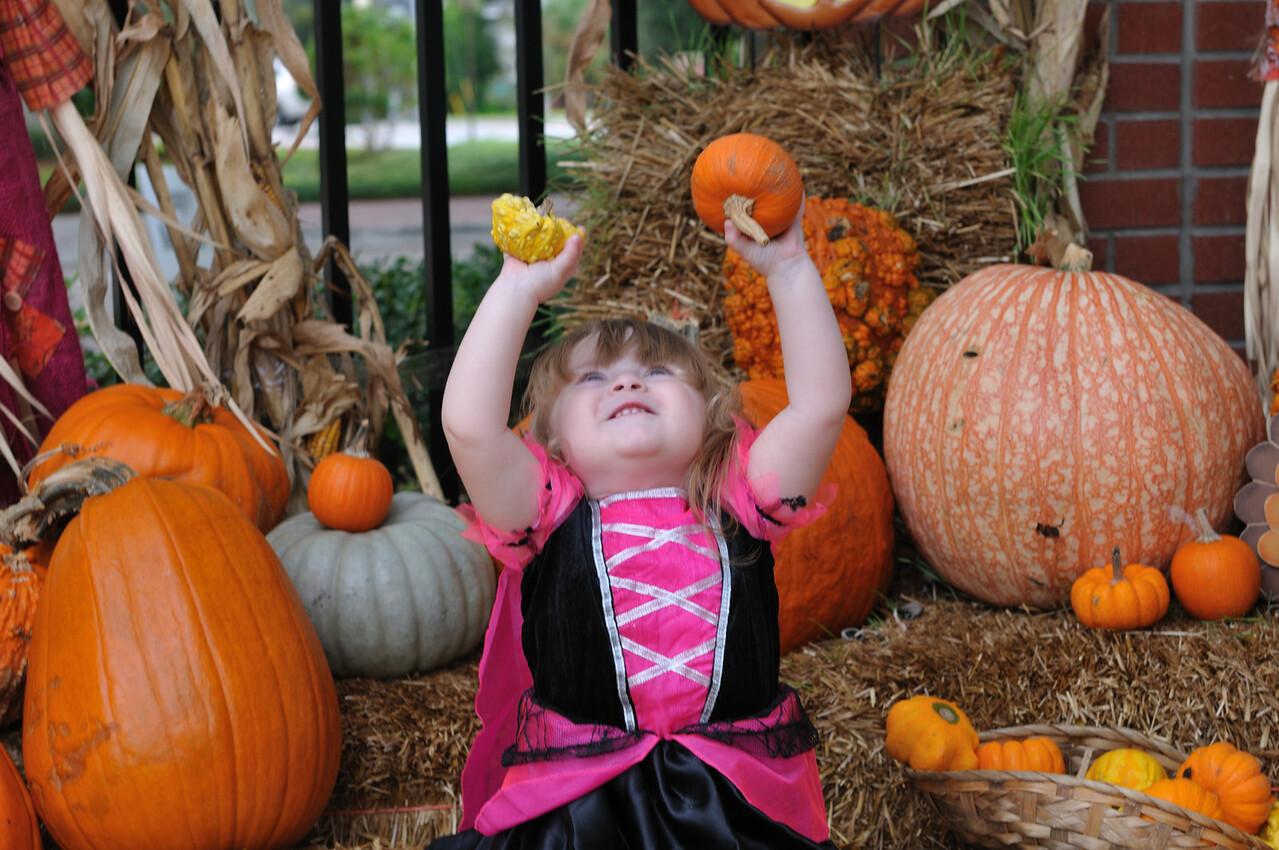 Hoisting pumpkins