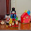 Mimi's nutcrackers, matroshka dolls and the three little pigs house