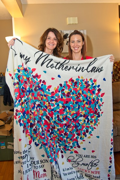 Mimi and Tera with the Blanket Tera got for Mimi