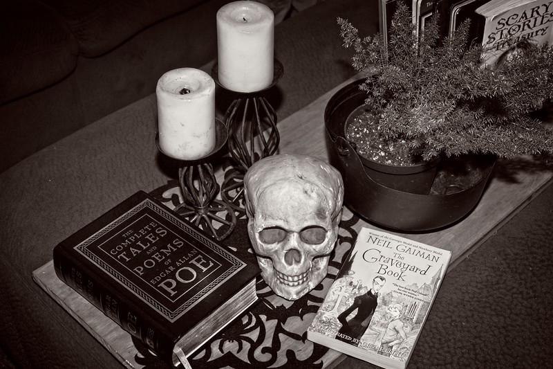 Halloween display at the Sharp's