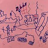 This is the inside of Santa's workshop as drawn by Emerson. There are potions at the top.