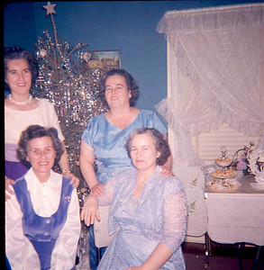 December 26, 1959 Alice Veronica (Keating) and Bill Brown wedding day, reception at 224 Hazel Avenue. home of Mary & Henry Kuck.