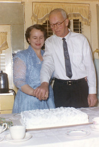 December 26, 1959 Alice Veronica (Keating) and Bill Brown wedding day.