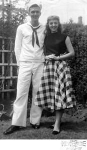 "1957 611 Spruce Street, Trenton, NJ John Joseph Szymanski, Jr. and Ann ""Angie"" Szymanski."