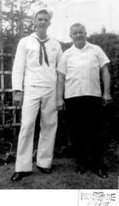1957 611 Spruce Street, Trenton, NJ John Joseph Szymanski, Jr. with John Joseph Szymanski, Sr.