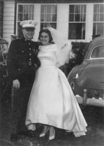 1958 Wedding of William Burtson and Dorothy Szymanski.