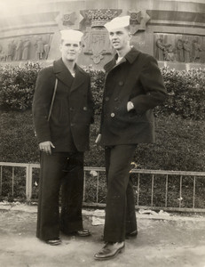 Undated John Joseph Szymanski, Jr. on right.